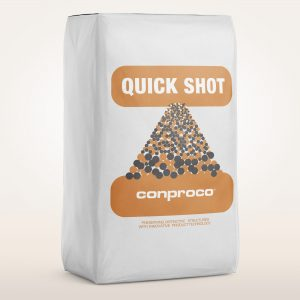 Quick shot is a Fast setting mortar for vertical and overhead applications